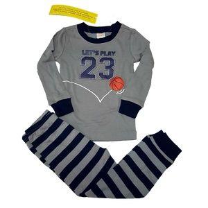 Gymboree Sleepwear stripe Basketball 2T gymmies